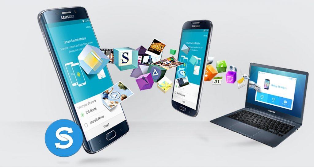 Smartphone et pc transfert de données