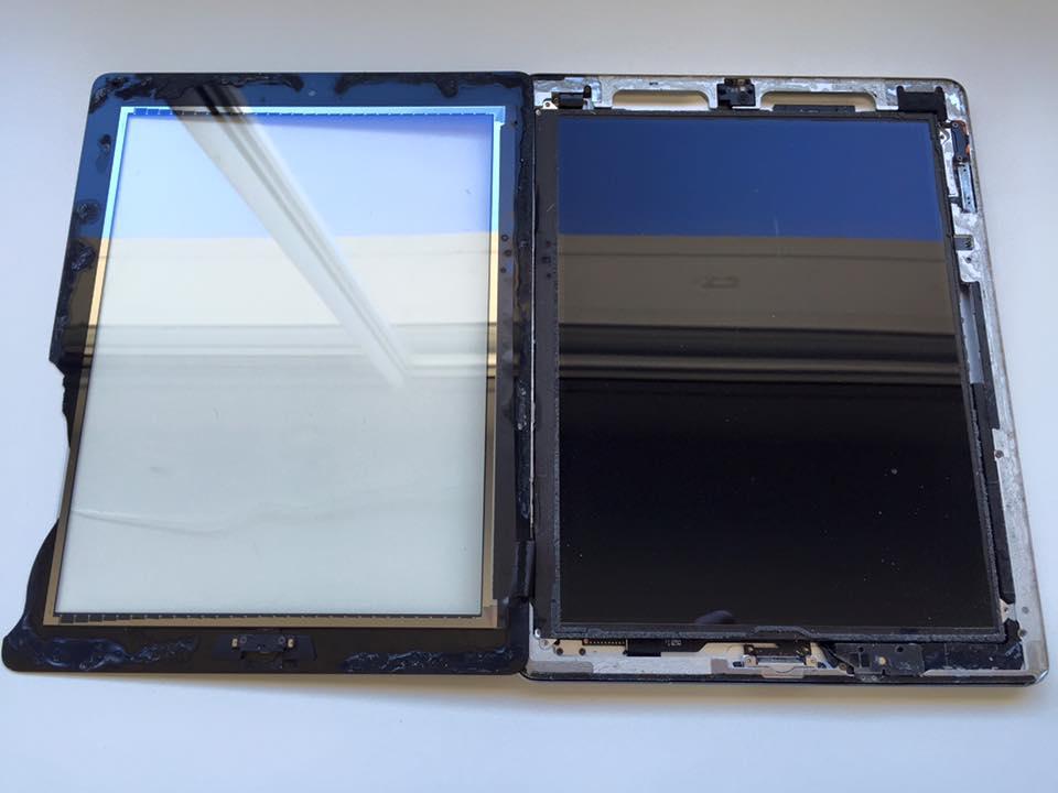 décollage vitre iPad