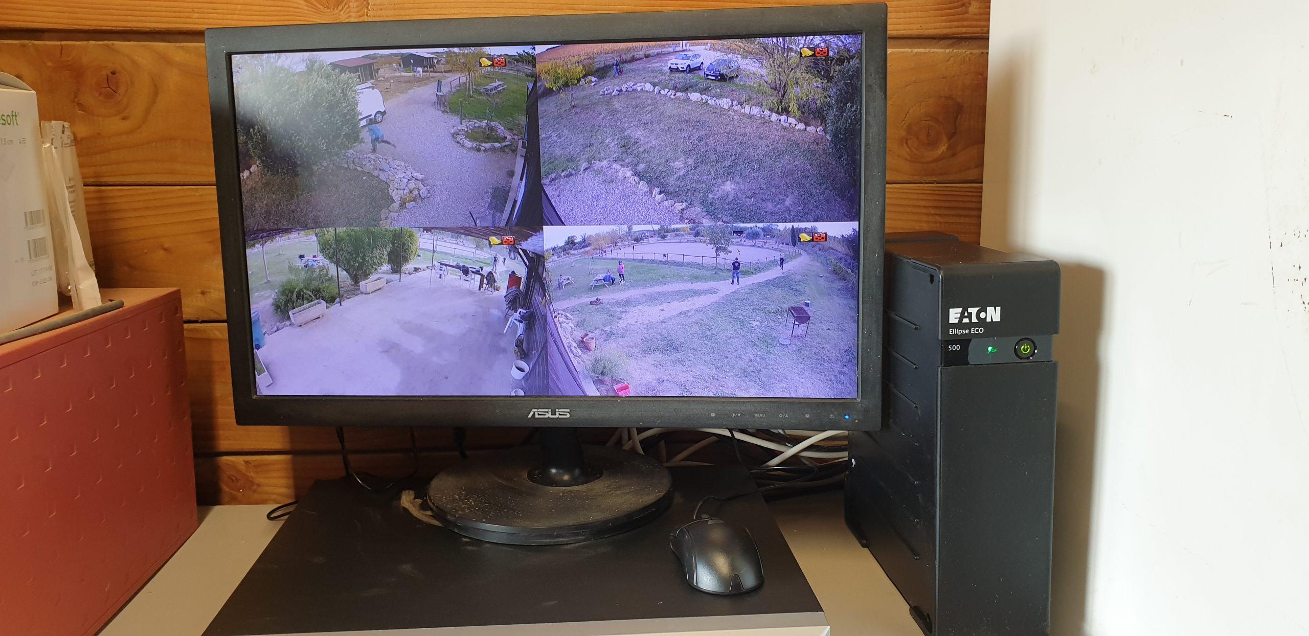 Ecran de surveillance caméra